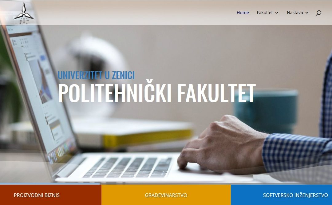 Web stranica Politehničkog fakulteta u novom ruhu