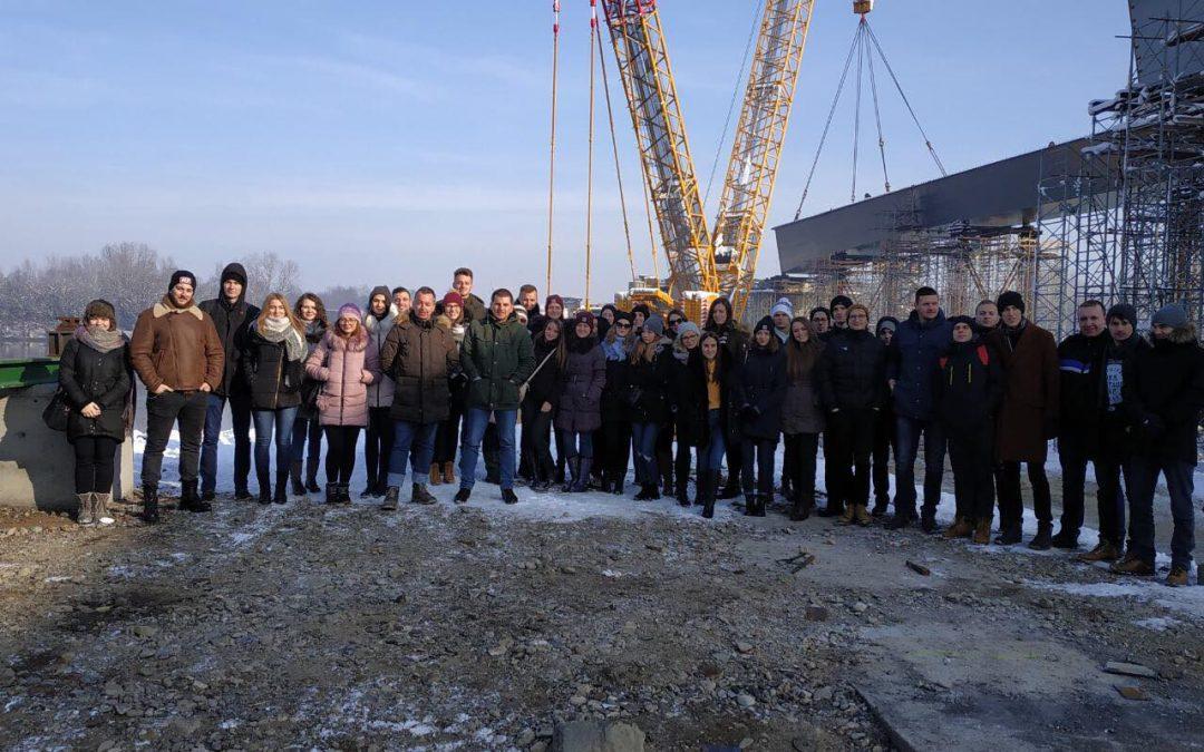 Studenti Građevinarstva posjetili gradilište mosta Svilaj preko rijeke Save