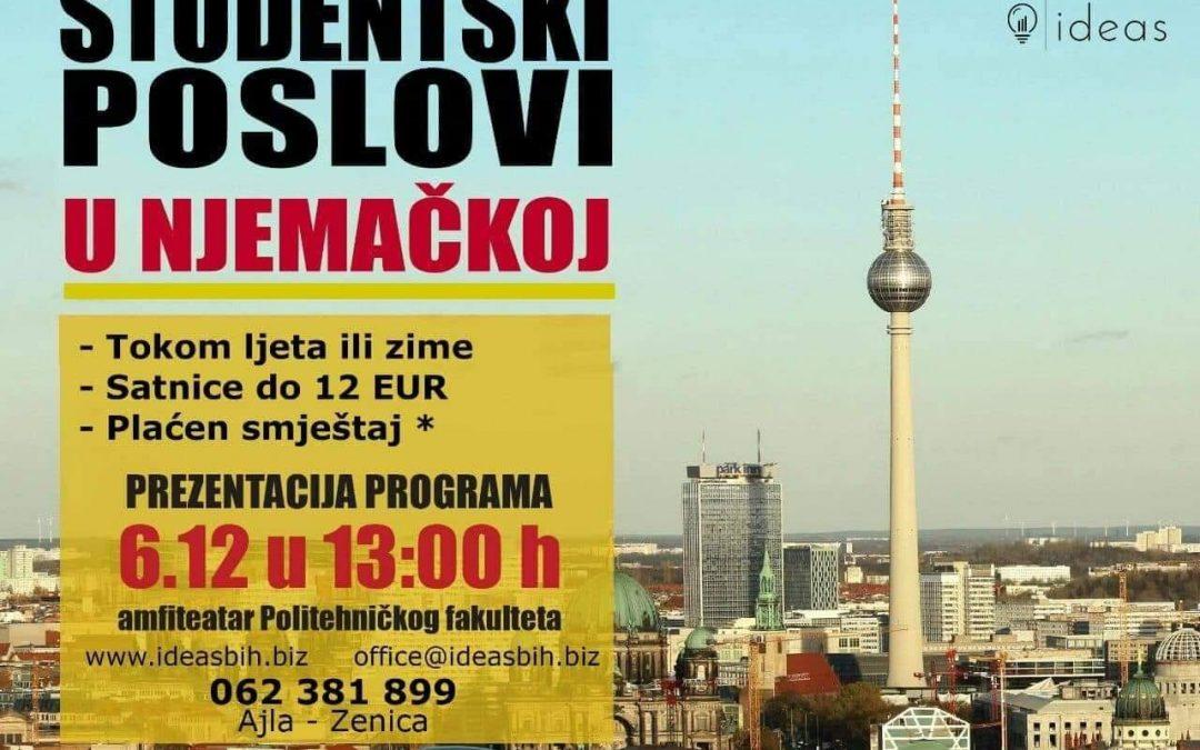 Prezentacija programa Studentski poslovi u Njemačkoj