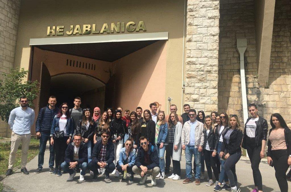Studenti Građevinarstva posjetili hidroelektranu Jablanica
