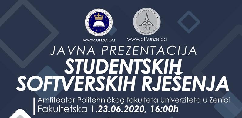 Javna prezentacija studentskih softverskih rješenja
