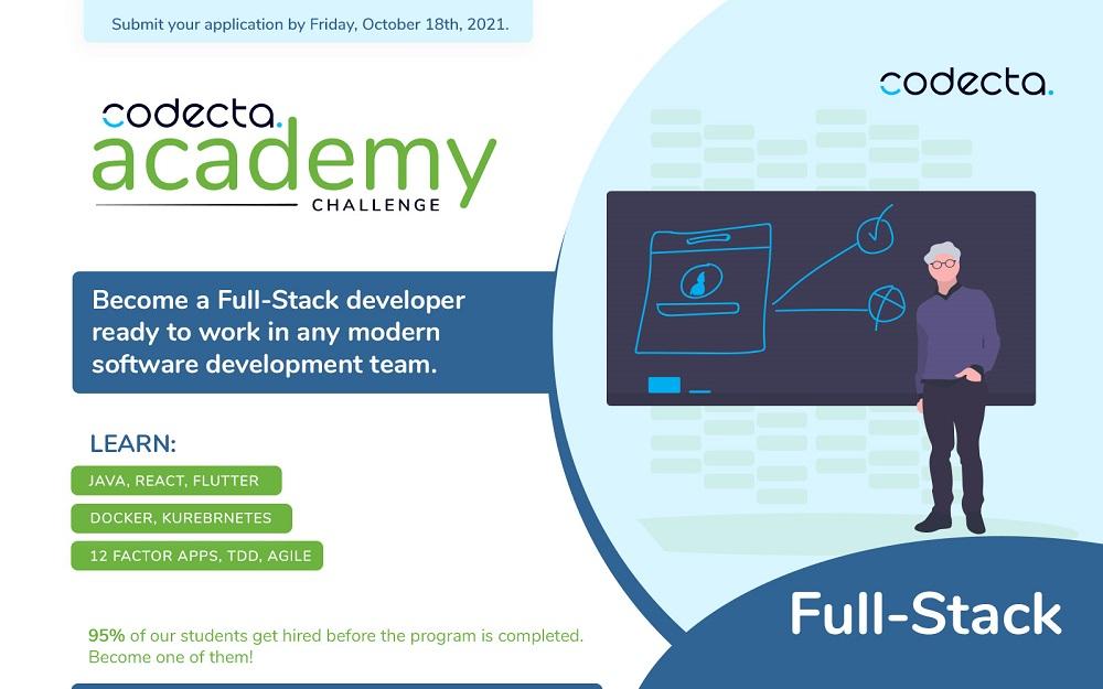 Codecta Full-Stack Academy & Codecta DevOps Academy + On job Training za IT studente